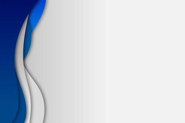 Vorlage für einen dunkelblauen und grauen kurvenrahmen