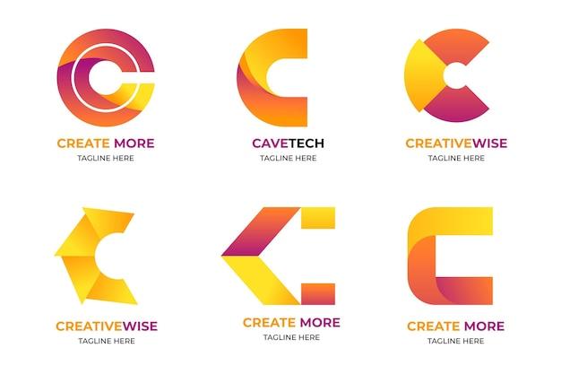 Vorlage für farbverlaufs-c-logo-vorlagen