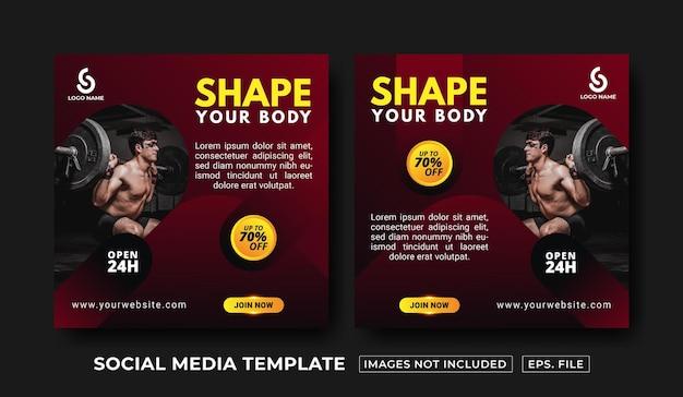 Vorlage für fitness-social-media-beiträge