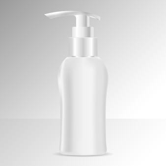 Vorlage für flüssigseife oder shampoo-flasche. kosmetika