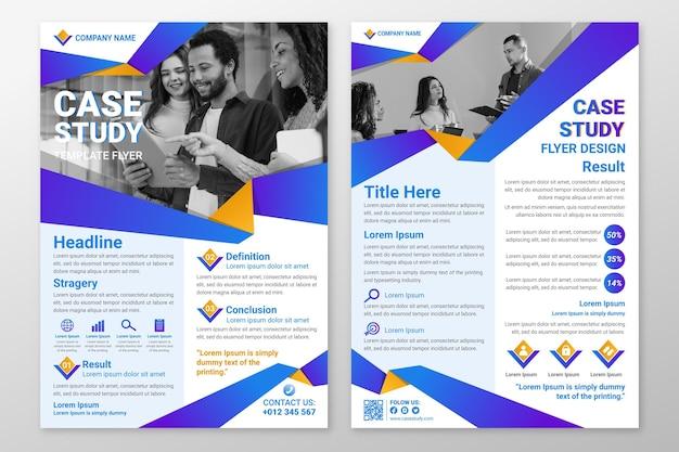 Vorlage für flyer für fallstudien mit farbverlauf