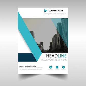 Vorlage für geometrische broschüre