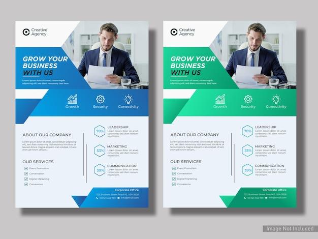 Vorlage für geschäftsflyer für kreative digitale marketingagenturen