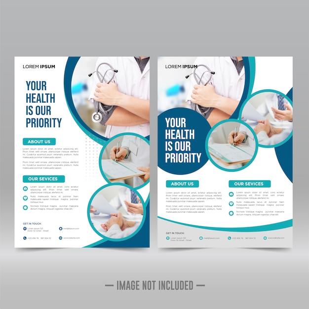 Vorlage für gesundheits- und medizinische flyer