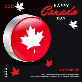 Vorlage für happy canada day can