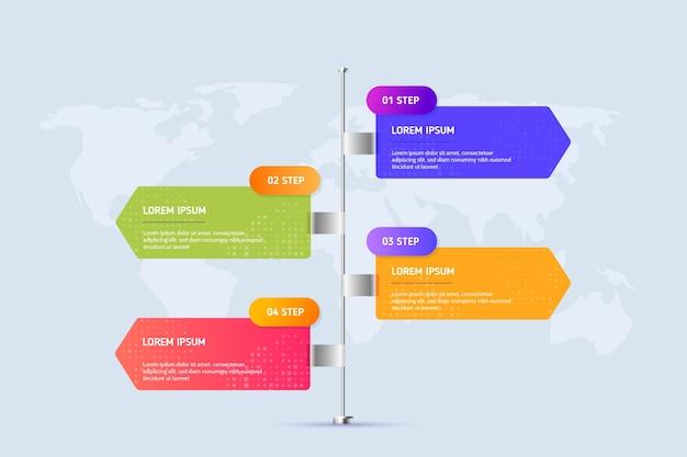 Vorlage für infografik-schritte