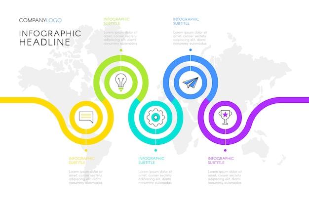 Vorlage für infografiken mit schritten