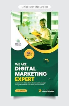 Vorlage für instagram-geschichten einer agentur für digitales marketing