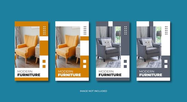 Vorlage für instagram-geschichten für moderne möbel