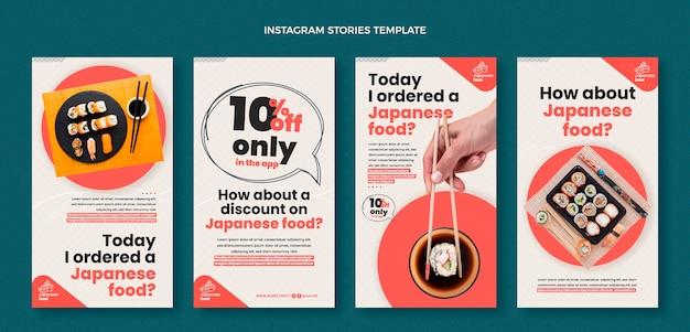 Vorlage für instagram-geschichten im flachen design