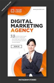 Vorlage für instagram-storys für agenturen für digitales marketing
