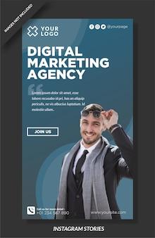 Vorlage für instagram-storys für digitale agenturen