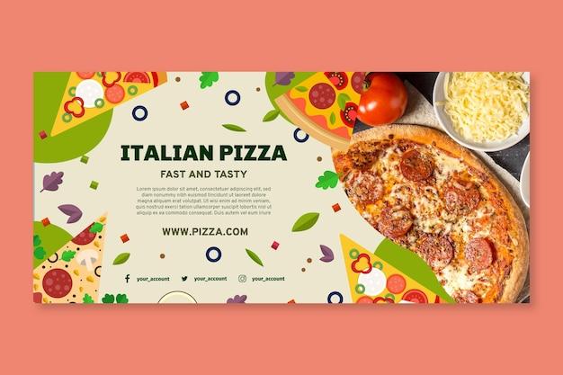 Vorlage für italienisches essensbanner