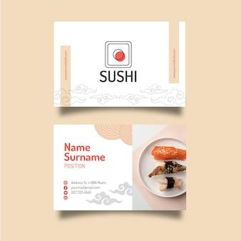 Vorlage für japanische restaurant-visitenkarten