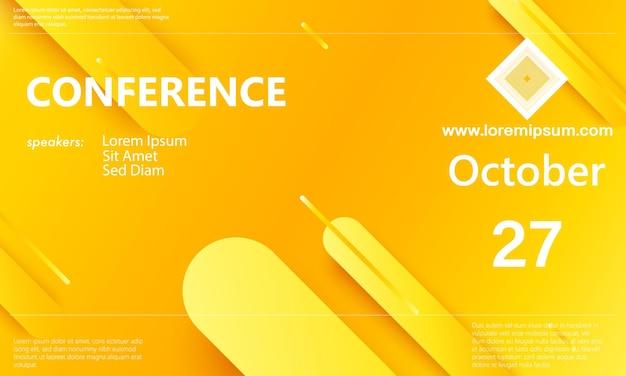 Vorlage für konferenzankündigungen. business-hintergrund. abstraktes konferenzdesign. farbvektorillustration.