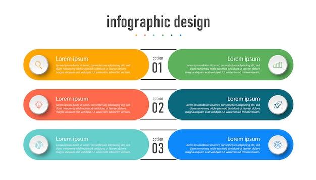 Vorlage für kreative infografiken für präsentationen mit 6 optionen