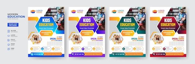Vorlage für kreative und moderne zulassungsflyer für kinderbildung