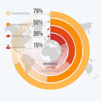 Vorlage für kreis informative infografiken