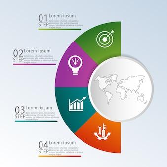Vorlage für kreisförmige infografiken