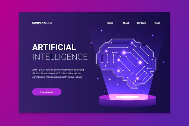Vorlage für künstliche intelligenz der zielseite
