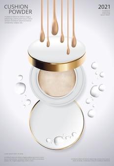 Vorlage für make-up-puderkissen-plakate