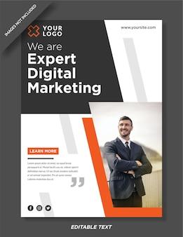 Vorlage für marketingplakate für digitale agenturen