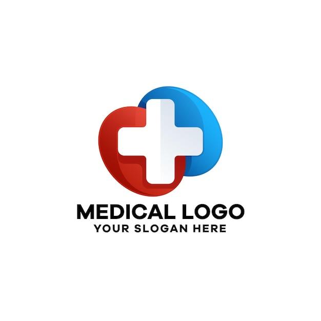 Vorlage für medizinisches logo mit farbverlauf