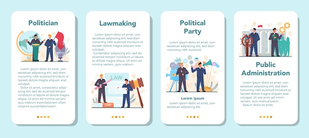 Vorlage für mobile anwendungsanwendungen für politiker.