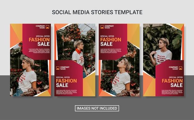 Vorlage für mode-social-media-geschichten