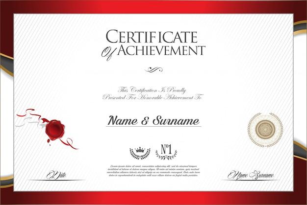 Vorlage für modernes design des zertifikats oder diploms