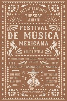 Vorlage für musikfestival-plakate