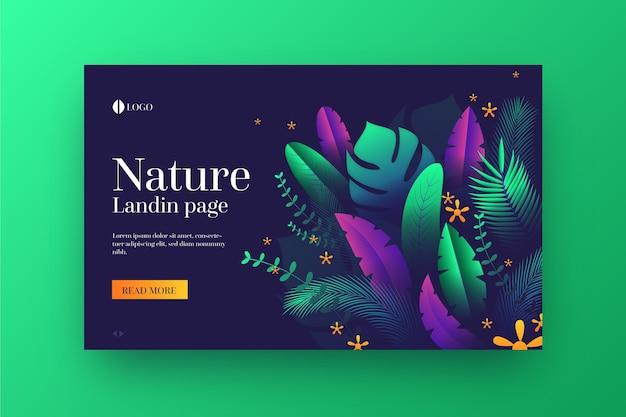 Vorlage für natur-landingpages