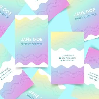 Vorlage für pastellgradienten-visitenkarten