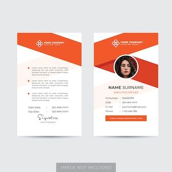 Vorlage für premium-mitarbeiterausweis
