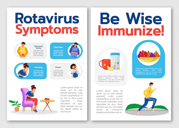 Vorlage für rotavirus-symptome