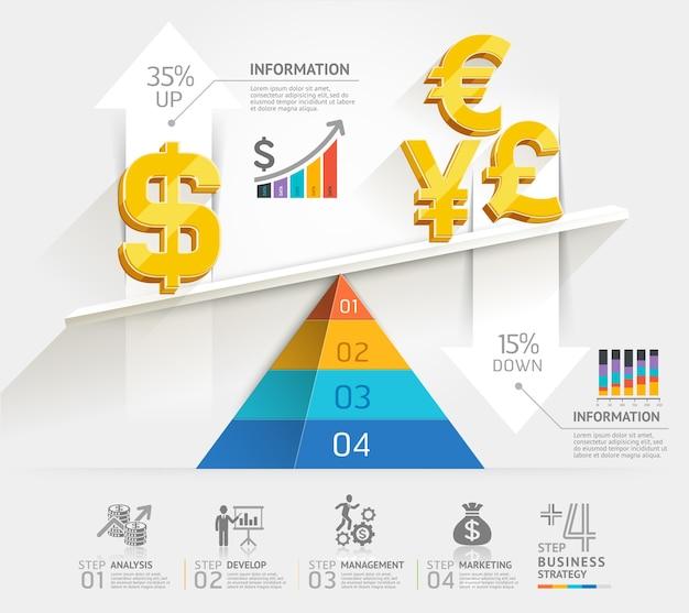 Vorlage für skalierte infografiken.