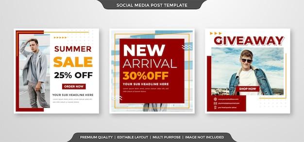Vorlage für social media-anzeigen für den sommermodeverkauf sale