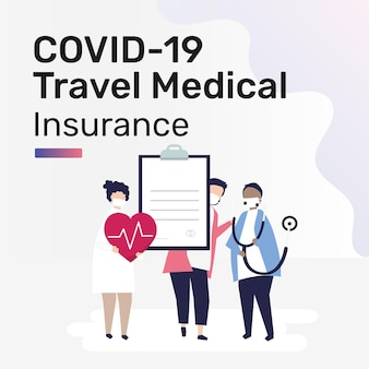 Vorlage für social-media-beiträge für die covid-19-reisekrankenversicherung