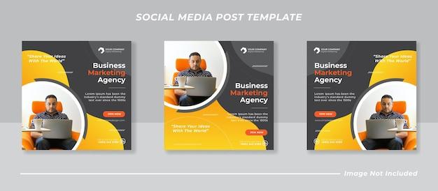 Vorlage für social-media-beiträge für digitales geschäftsmarketing