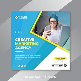 Vorlage für social-media-beiträge für kreative marketingagenturen