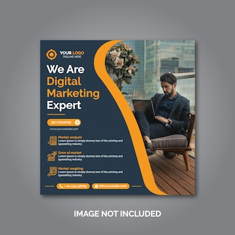 Vorlage für social-media-beiträge für kreatives geschäftsmarketing marketing