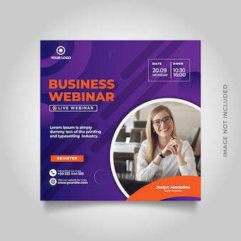 Vorlage für social-media-beiträge für live-webinare für digitales marketing