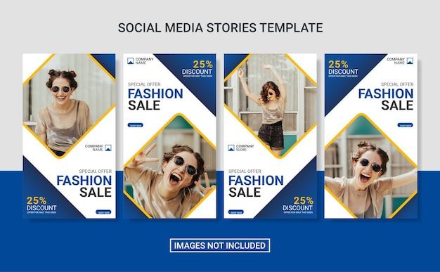 Vorlage für social-media-beiträge für mode