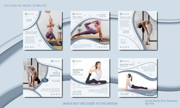 Vorlage für social-media-beiträge für yoga-kurse