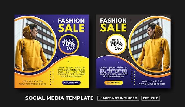 Vorlage für social-media-beiträge im modeverkauf
