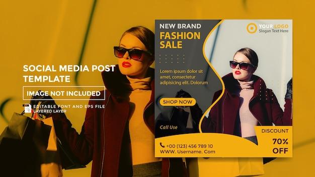 Vorlage für social-media-beiträge zum thema mode