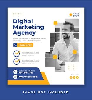 Vorlage für social-media-poster oder bannerpost für agenturen