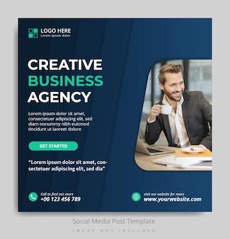 Vorlage für social-media-posts für kreativagenturen