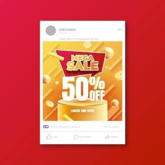 Vorlage für social media-verkaufspost mit farbverlauf