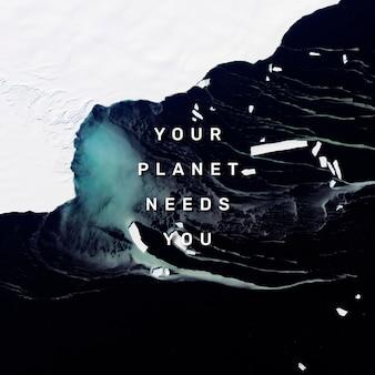 Vorlage für social-media-zitate für die umwelt